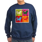Chihuahua Silhouette Pop Art Sweatshirt (dark)
