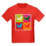 Chihuahua Silhouette Pop Art Kids Dark T-Shirt