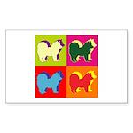 Chow Chow Silhouette Pop Art Sticker (Rectangle)