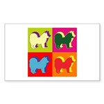 Chow Chow Silhouette Pop Art Sticker (Rectangle 50