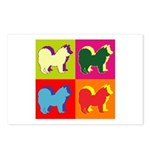 Chow Chow Silhouette Pop Art Postcards (Package of
