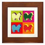 Chow Chow Silhouette Pop Art Framed Tile