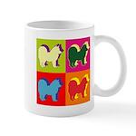 Chow Chow Silhouette Pop Art Mug