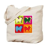 Chow Chow Silhouette Pop Art Tote Bag