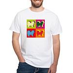 Chow Chow Silhouette Pop Art White T-Shirt