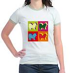 Chow Chow Silhouette Pop Art Jr. Ringer T-Shirt