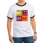 Chow Chow Silhouette Pop Art Ringer T