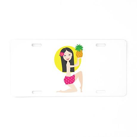 Hawaiian Girl Aluminum License Plate