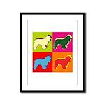 Cocker Spaniel Pop Art Framed Panel Print