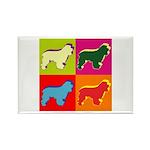 Cocker Spaniel Pop Art Rectangle Magnet (100 pack)