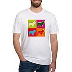 Cocker Spaniel Pop Art Fitted T-Shirt