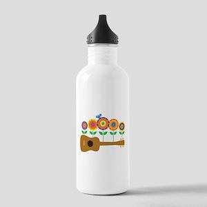 Ukulele Flowers Stainless Water Bottle 1.0L