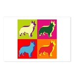 Collie Silhouette Pop Art Postcards (Package of 8)