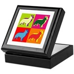 Collie Silhouette Pop Art Keepsake Box