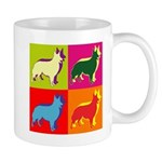 Collie Silhouette Pop Art Mug