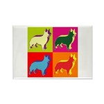 Collie Silhouette Pop Art Rectangle Magnet (100 pa
