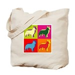 Collie Silhouette Pop Art Tote Bag