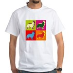 Collie Silhouette Pop Art White T-Shirt