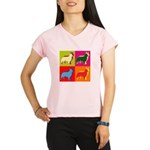 Collie Silhouette Pop Art Performance Dry T-Shirt