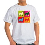 Collie Silhouette Pop Art Light T-Shirt