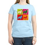 Collie Silhouette Pop Art Women's Light T-Shirt