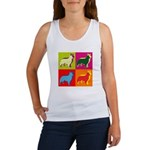 Collie Silhouette Pop Art Women's Tank Top