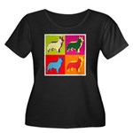 Collie Silhouette Pop Art Women's Plus Size Scoop