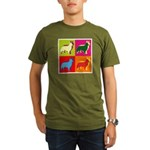 Collie Silhouette Pop Art Organic Men's T-Shirt (d