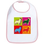 Collie Silhouette Pop Art Bib