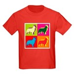 Collie Silhouette Pop Art Kids Dark T-Shirt