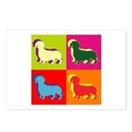 Dachshund Silhouette Pop Art Postcards (Package of