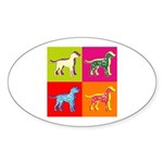 Dalmatian Silhouette Pop Art Sticker (Oval)