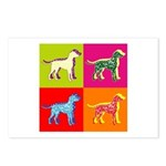 Dalmatian Silhouette Pop Art Postcards (Package of