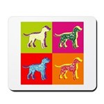 Dalmatian Silhouette Pop Art Mousepad