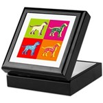 Dalmatian Silhouette Pop Art Keepsake Box