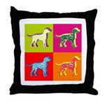 Dalmatian Silhouette Pop Art Throw Pillow