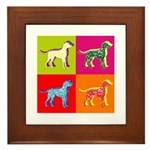 Dalmatian Silhouette Pop Art Framed Tile