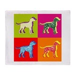 Dalmatian Silhouette Pop Art Throw Blanket