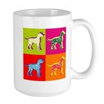 Dalmatian Silhouette Pop Art Large Mug