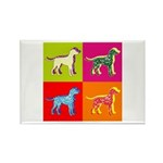 Dalmatian Silhouette Pop Art Rectangle Magnet (100