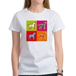 Dalmatian Silhouette Pop Art Women's T-Shirt