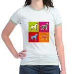 Dalmatian Silhouette Pop Art Jr. Ringer T-Shirt