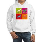 Dalmatian Silhouette Pop Art Hooded Sweatshirt