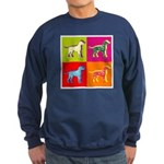 Dalmatian Silhouette Pop Art Sweatshirt (dark)