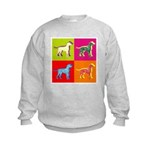 Dalmatian Silhouette Pop Art Kids Sweatshirt