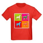 Dalmatian Silhouette Pop Art Kids Dark T-Shirt