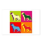 German Shepherd Silhouette Pop Art Postcards (Pack
