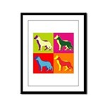 German Shepherd Silhouette Pop Art Framed Panel Pr
