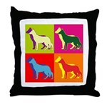 German Shepherd Silhouette Pop Art Throw Pillow