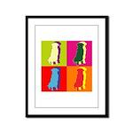Golden Retriever Silhouette Pop Art Framed Panel P